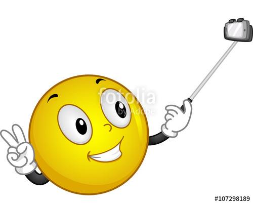 Selfie stick clipart jpeg clipart download Smiley Handling Selfie Stick\