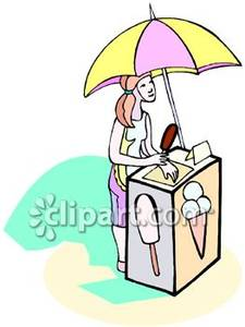 Selling at booth clipart clip art free library Girl Selling Ice Cream From a Booth - Royalty Free Clipart ... clip art free library