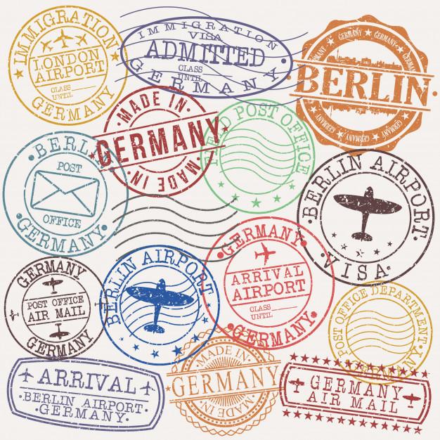 Sello postal clipart jpg black and white Sello de calidad de pasaporte postal de berlín alemania ... jpg black and white
