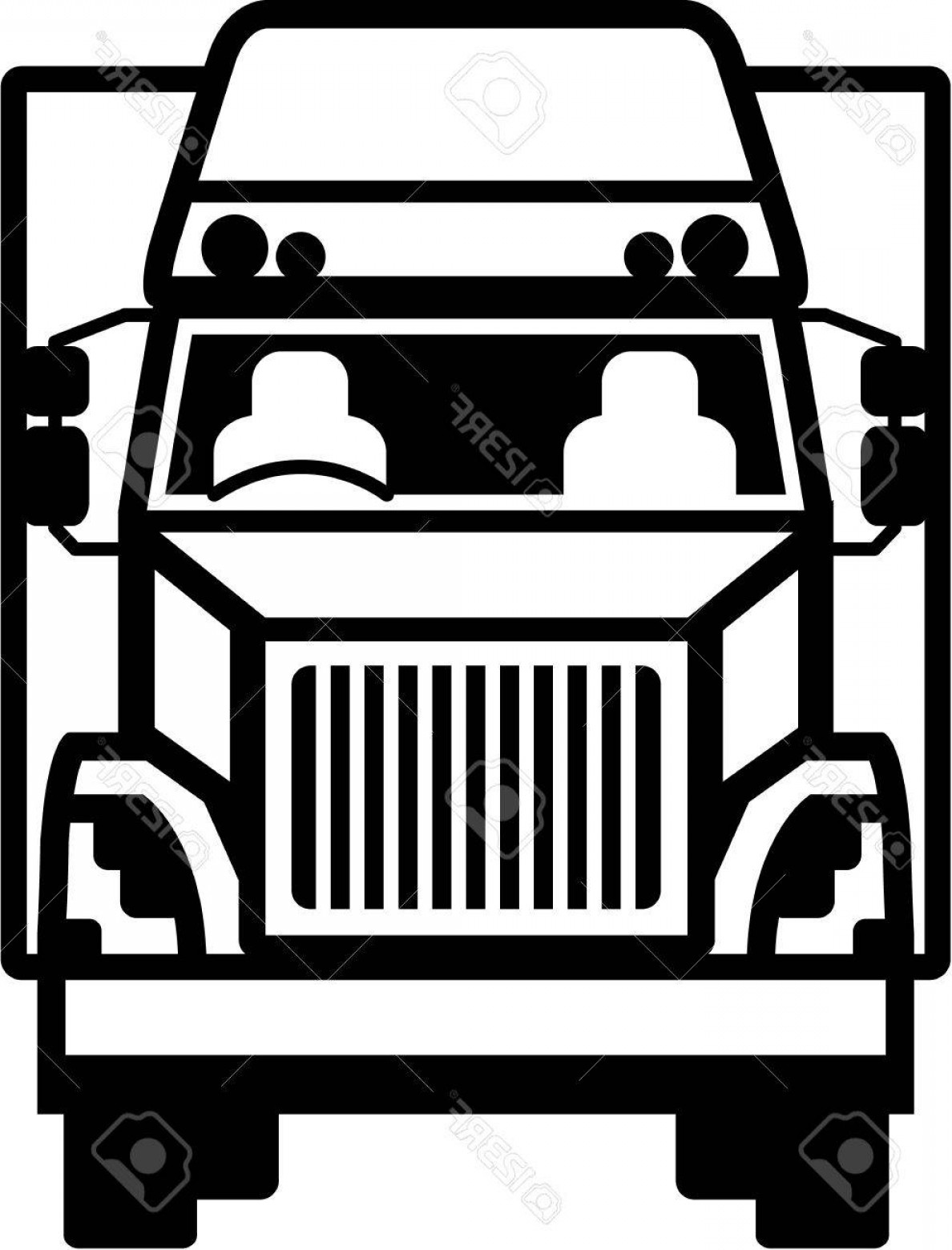 Semi truck grill clipart banner royalty free Fronts Semi Trucks Vector Clip Art | Savoyuptown banner royalty free