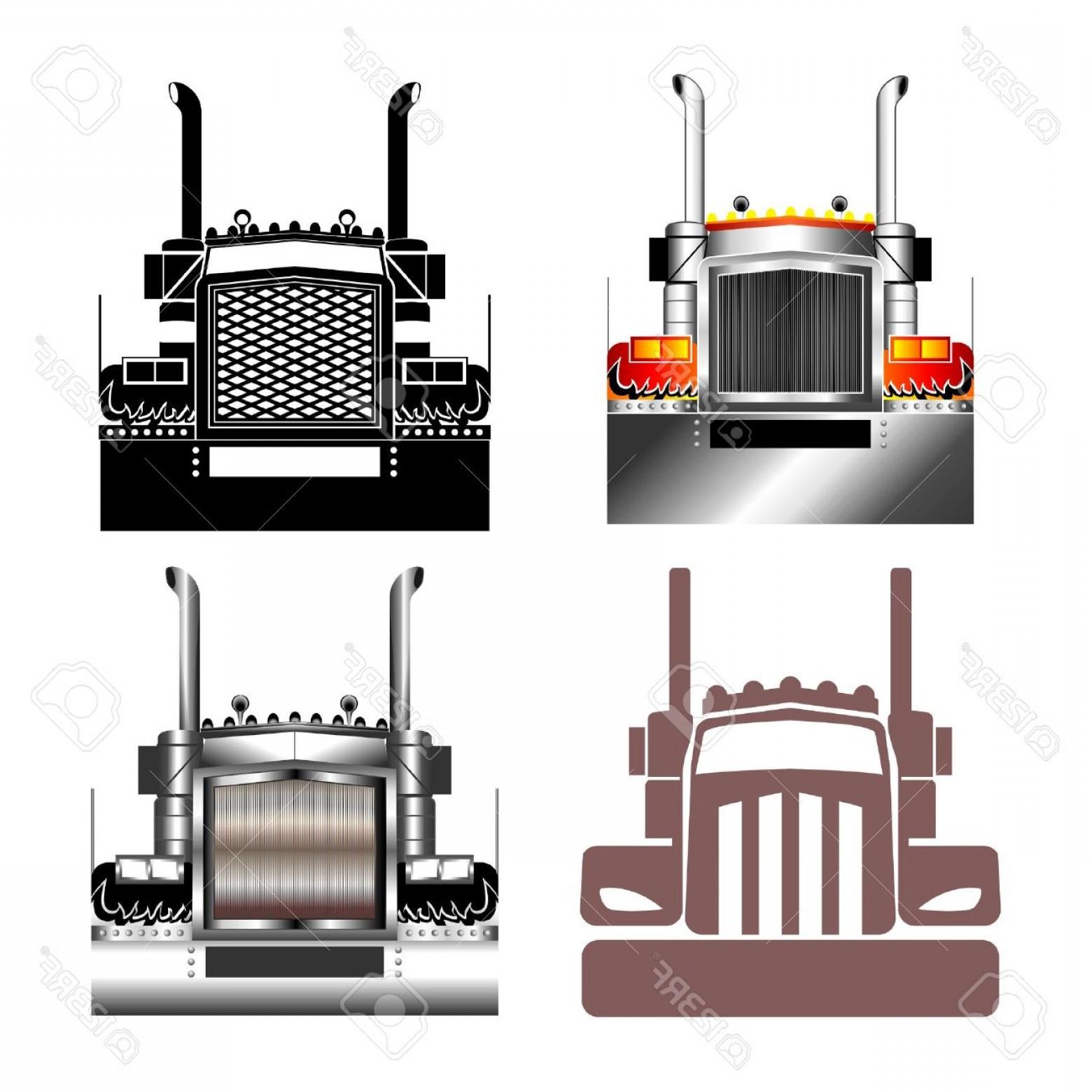 Semi truck grill clipart banner transparent library Fronts Semi Trucks Vector Clip Art | Savoyuptown banner transparent library