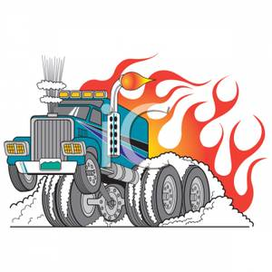 Semi truck with jet engine images clipart png royalty free stock A Semi Truck Doing a Burnout - Royalty Free Clipart Picture png royalty free stock