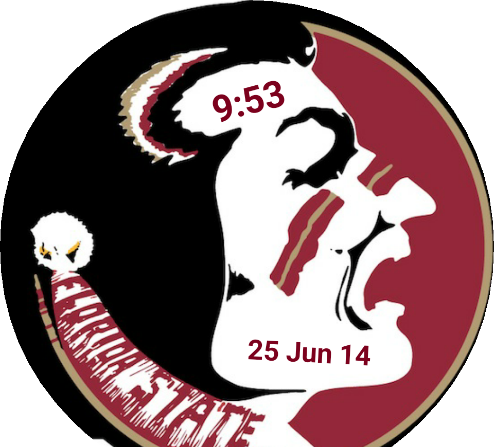 Seminoles football clipart clip library download Florida State Seminoles (FSU) for Moto 360 - FaceRepo clip library download