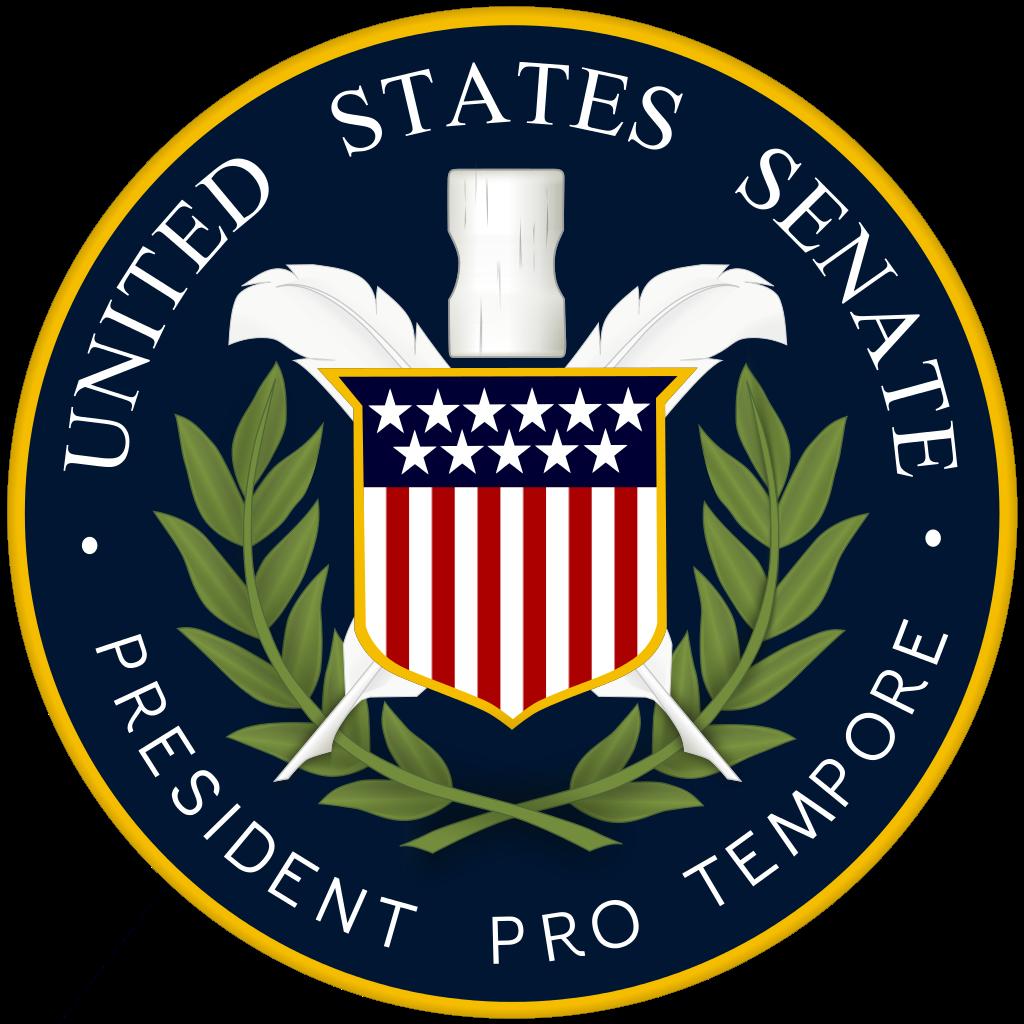 Senate house clipart jpg library File:President Pro Tempore US Senate Seal.svg - Wikimedia Commons jpg library