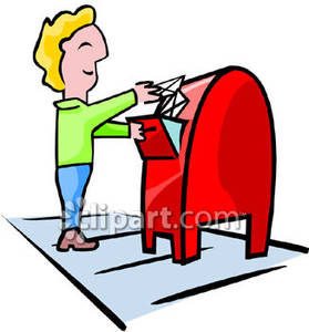 Sending a letter clipart png black and white Person Mailing a Letter Royalty Free Clipart Picture png black and white