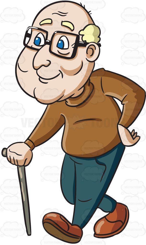 Citzens clipart banner free stock A male senior citizen enjoying a stroll #cartoon #clipart ... banner free stock