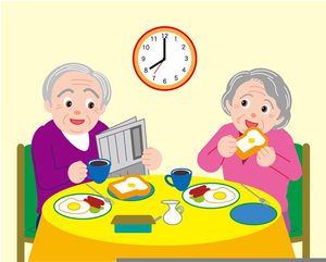 Senior citizens clipart free image black and white library Senior Citizens Eating Clipart | Free Images at Clker.com ... image black and white library