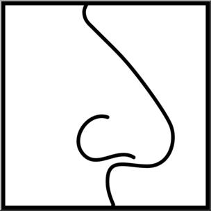 Sense of taste clipart black and white svg royalty free download Clip Art: Senses 1 Smell B&W I abcteach.com | abcteach svg royalty free download