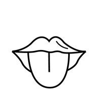 Sense of taste clipart black and white banner free library Tongue Clipart Black And White | Free download best Tongue ... banner free library