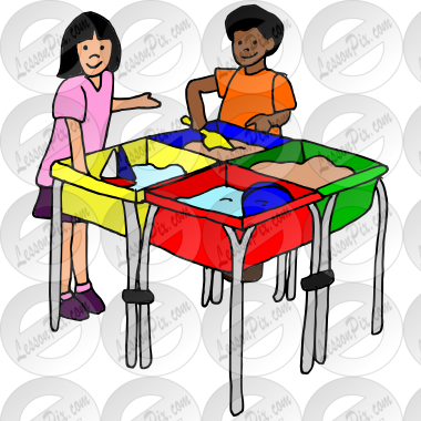 Sensory table clipart clip royalty free stock Sensory Table Picture for Classroom / Therapy Use - Great ... clip royalty free stock