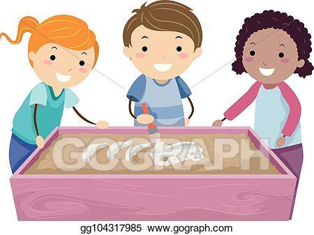 Sensory table clipart image freeuse stock Vector Illustration - Stickman kids sensory table. Stock ... image freeuse stock