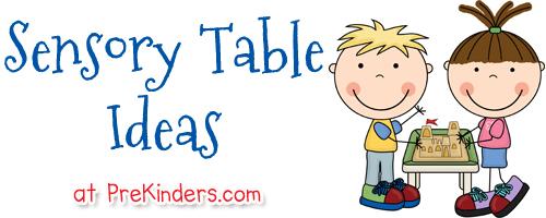 Sensory table clipart banner stock Sensory Table Ideas PreKinders - Free Clipart banner stock