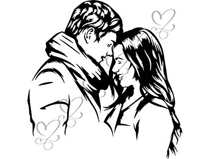 Sensuality clipart banner transparent Amazon.com: Yetta Quiller Couple Relationship Kissing ... banner transparent