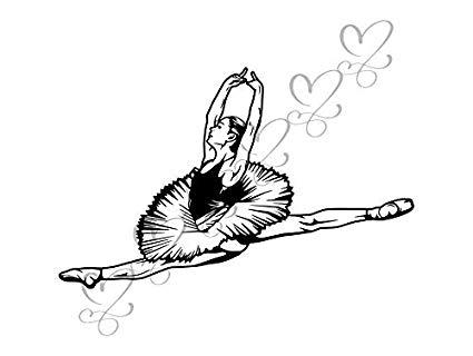 Sensuality clipart banner transparent library Amazon.com: Yetta Quiller Ballet Dancer Dancing Acrobat ... banner transparent library