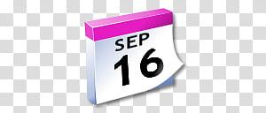 September 16 clipart clip black and white download WinXP ICal, September calendar illustration transparent ... clip black and white download