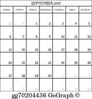 September 2015 calendar clipart clipart library Royalty Free Planner Clip Art - GoGraph clipart library