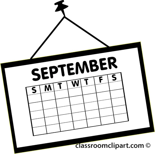 Mark your calendars clipart black and white png freeuse library Free September Calendar Cliparts, Download Free Clip Art ... png freeuse library