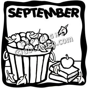 September black and white clipart svg freeuse library September clipart black and white 4 » Clipart Station svg freeuse library