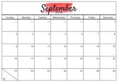 September calendar 2018 clipart clipart transparent Pinterest clipart transparent
