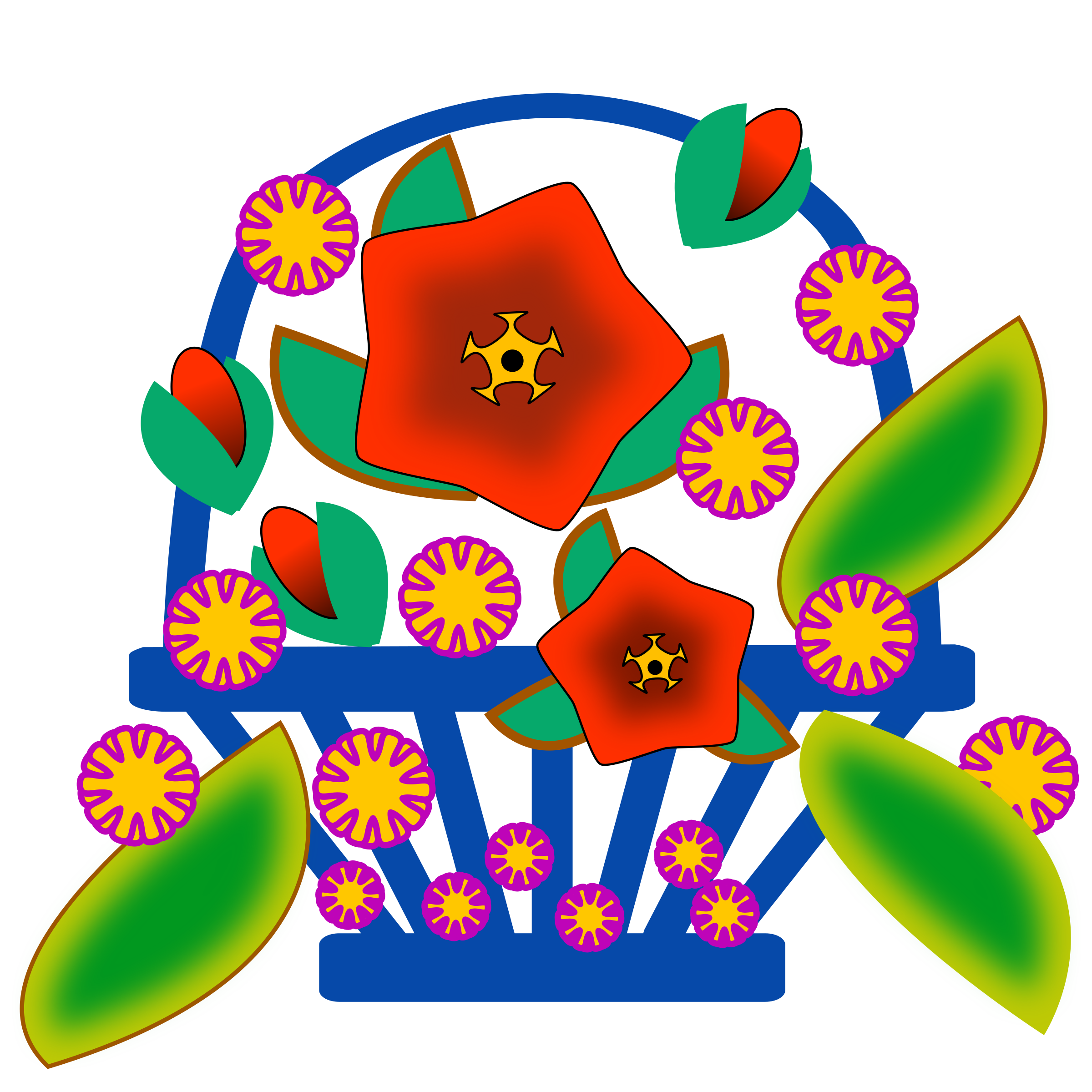 September flower clipart svg transparent Clipart - Flower Basket svg transparent