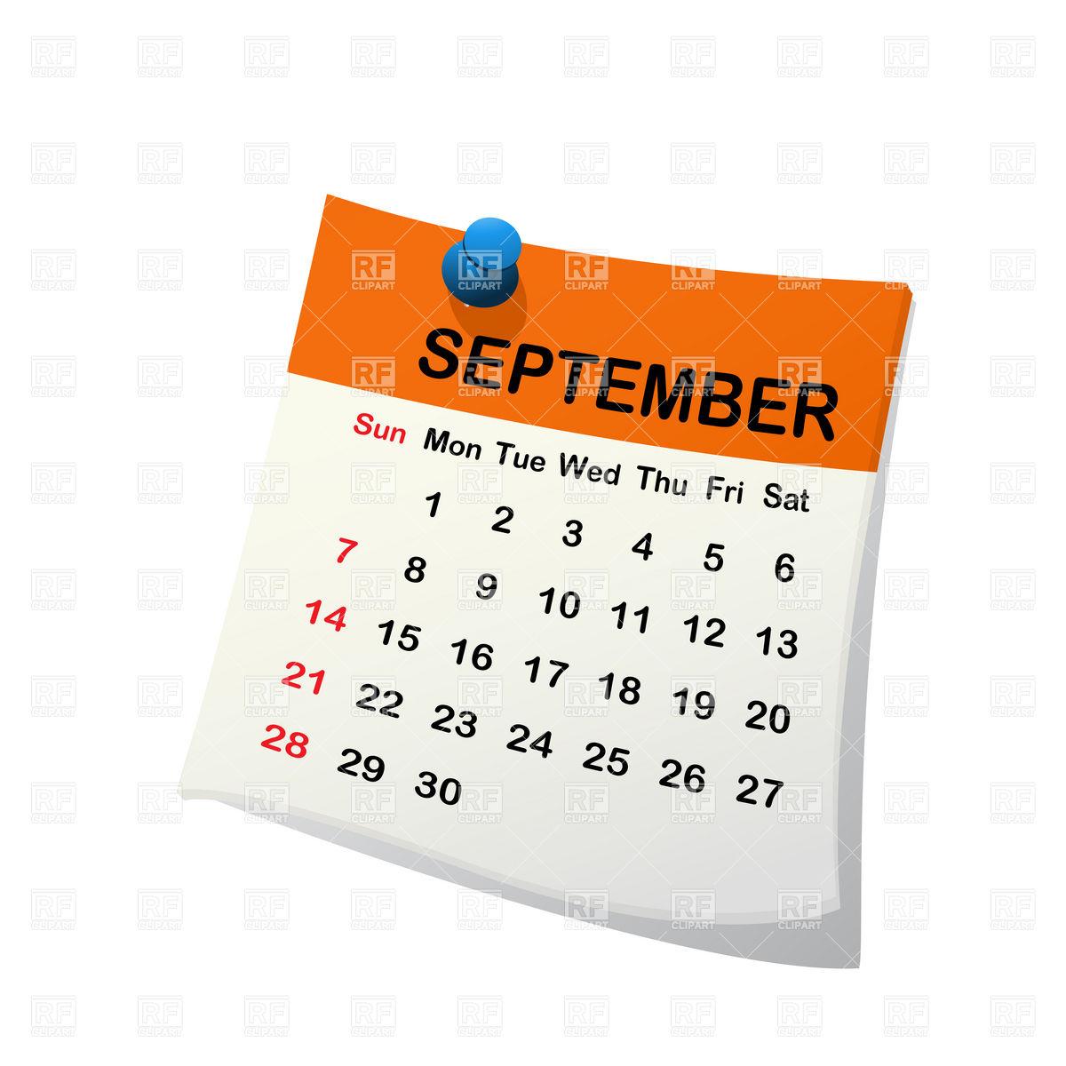 September month calendar clipart svg free Month Of September Clipart - Clipart Kid svg free
