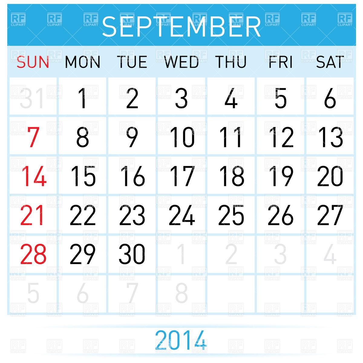 September month calendar clipart banner library download Month Of September Clipart - Clipart Kid banner library download