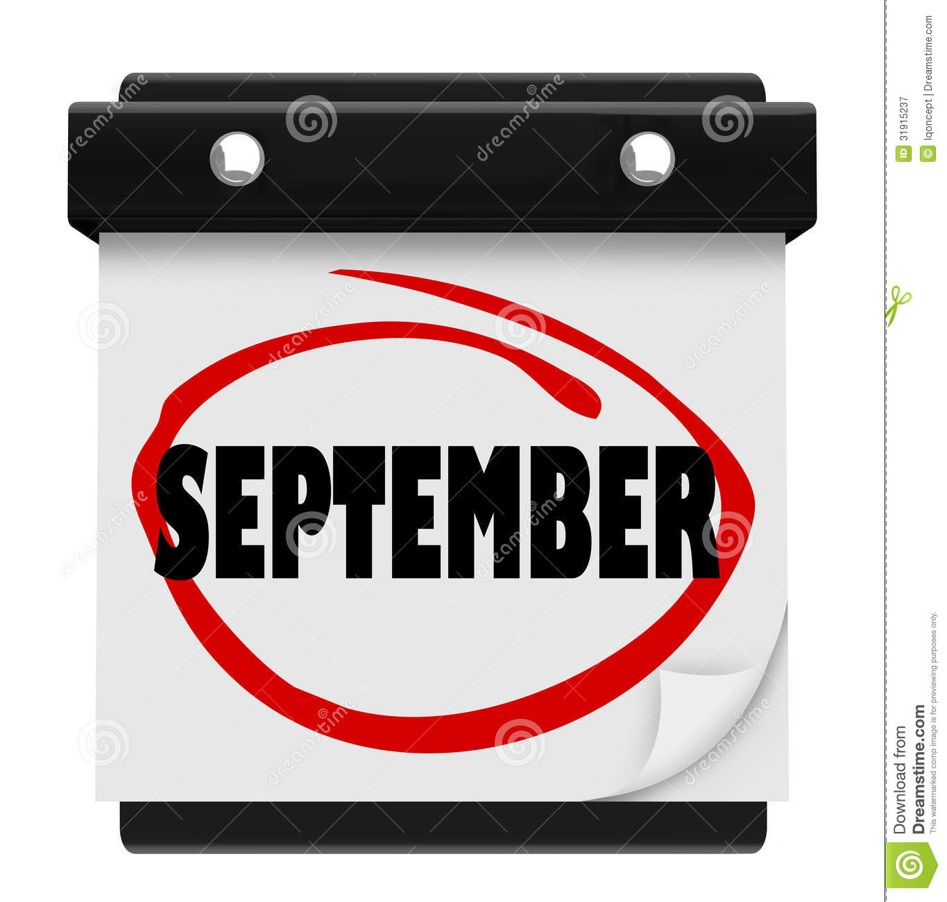 September month calendar clipart freeuse September Word Wall Calendar Change Month Schedule Royalty Free ... freeuse