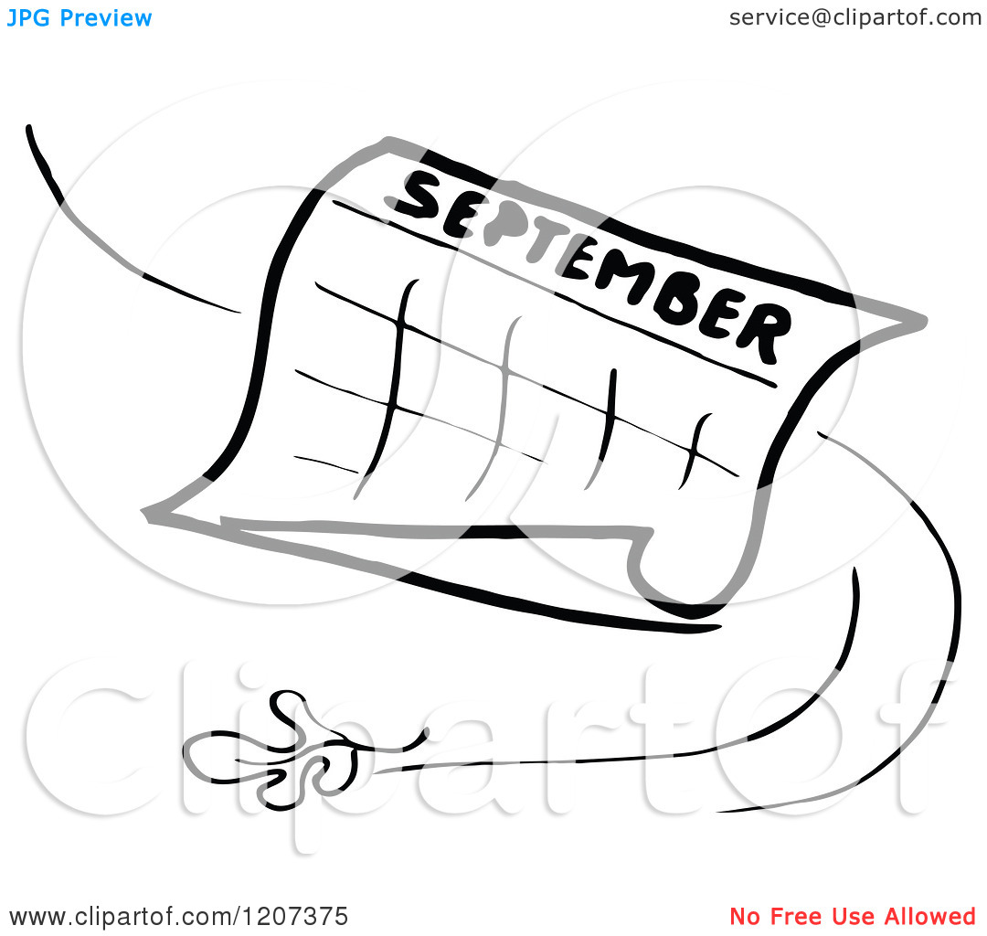September month calendar clipart svg black and white library September calendar clipart black and white - ClipartFox svg black and white library