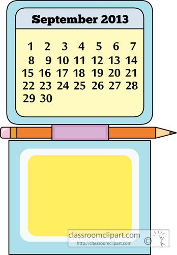 September month calendar clipart jpg royalty free September month calendar clipart - ClipartFest jpg royalty free