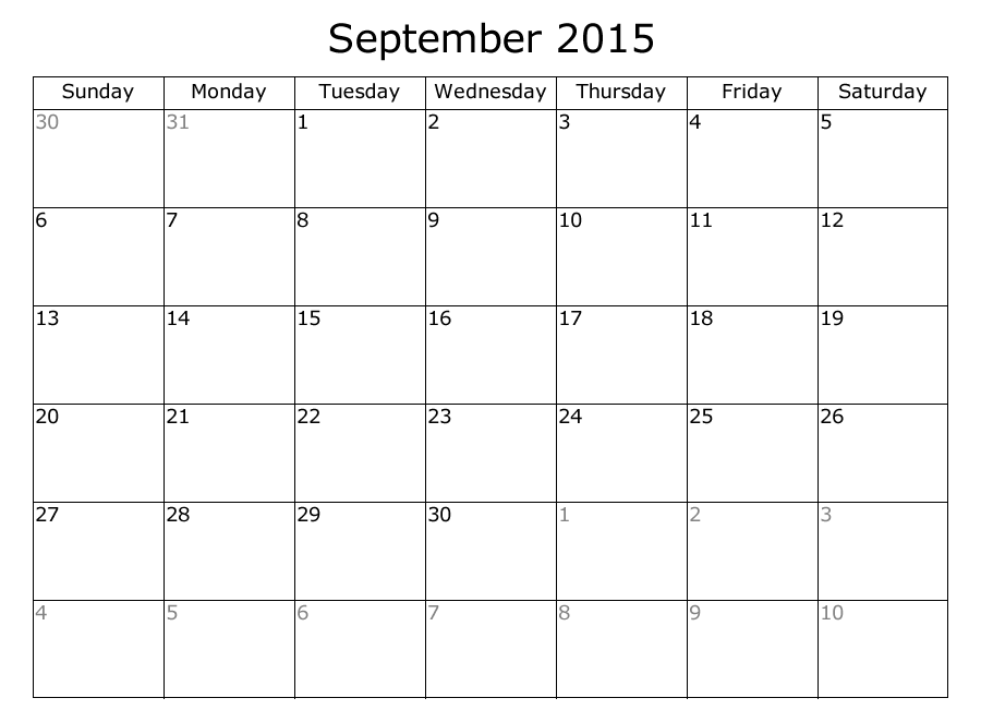 September month calendar clipart png stock Clipart of september 2015 calendar - ClipartFest png stock