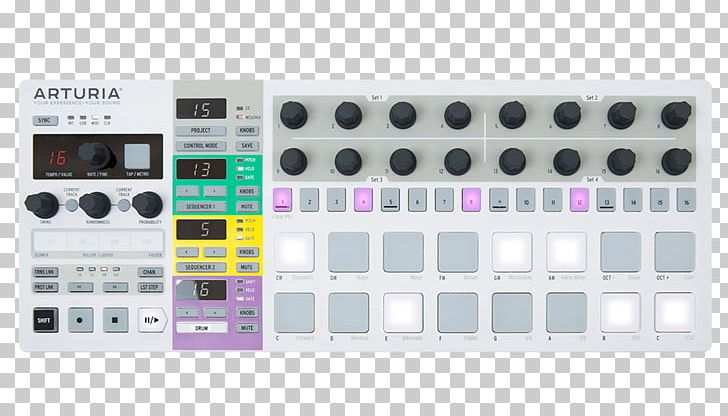 Sequencer clipart graphic royalty free download Arturia BeatStep Pro MIDI Controllers Music Sequencer PNG ... graphic royalty free download