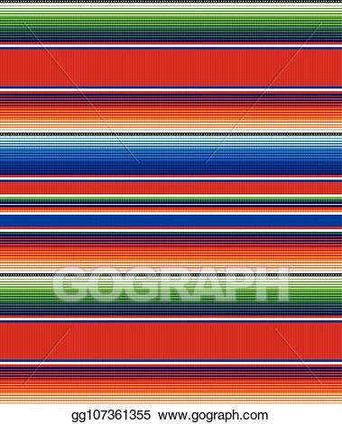 Serape clipart clip freeuse library Vector Illustration - Seamless mexican rug pattern. serape ... clip freeuse library