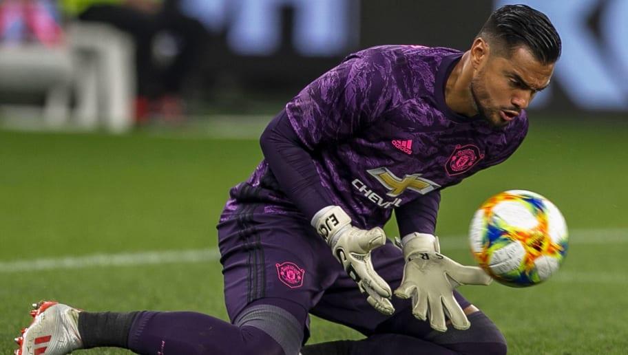 Sergio romero clipart banner black and white Manchester United Goalkeeper Sergio Romero Looking to Win ... banner black and white