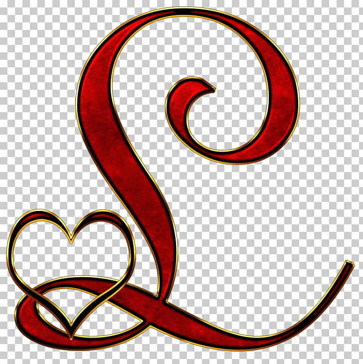 Serif clipart black and white library Valentine Capital Letter L, red \