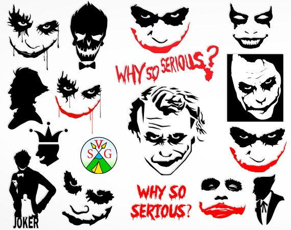 Serious clipart shilloutte jpg transparent download Joker svg cut files - Why so Serious svg Joker cricut files ... jpg transparent download
