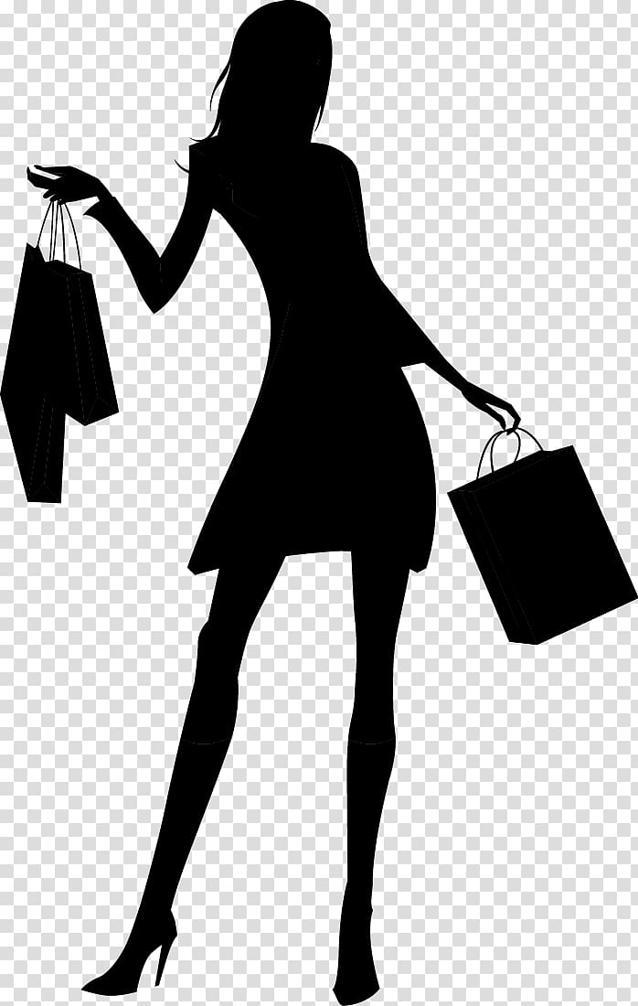 Serious clipart shilloutte clipart freeuse stock Silhouette Woman Shopping, Fashion shopping girl silhouette ... clipart freeuse stock