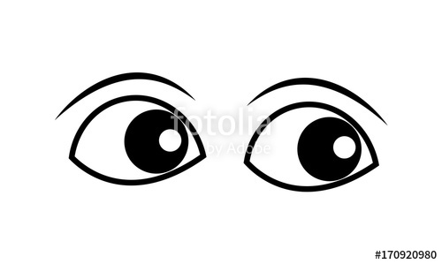 Serious eyes clipart clipart library Cartoon Eyes Clipart Vector\