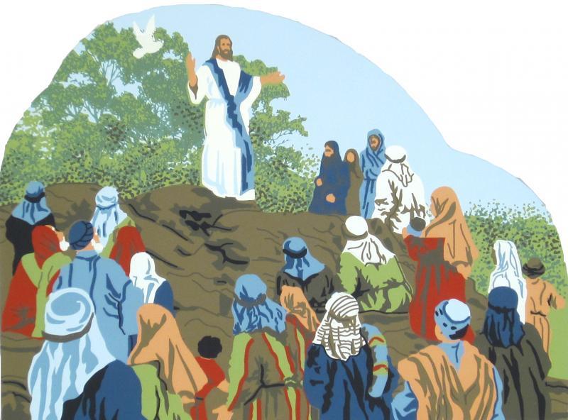 Sermon on the mount clipart black and white stock Sermon On The Mount - Matthew 5:1-12 | The Cat\'s Meow Village black and white stock