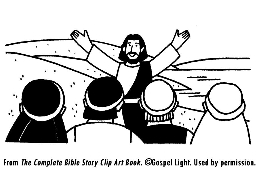 Sermon on the mount clipart