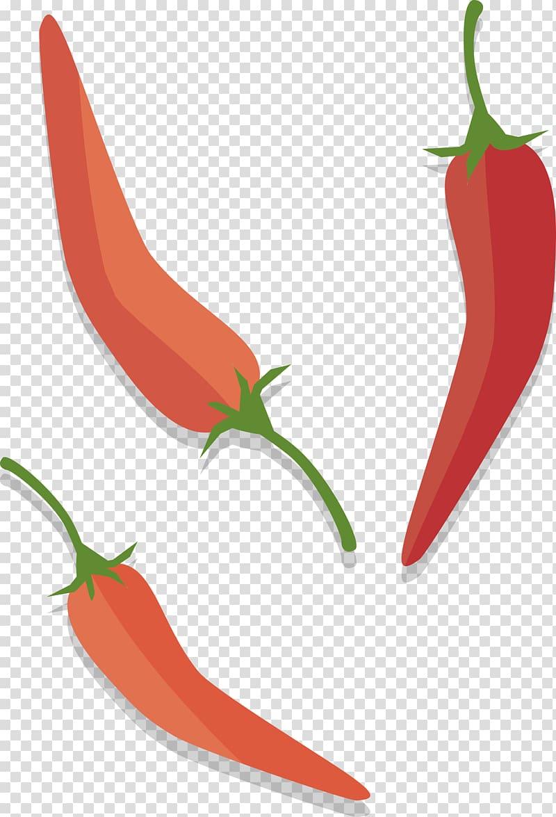 Serrano pepper clipart vector transparent Three chili peppers illustration, Tabasco pepper Birds eye ... vector transparent