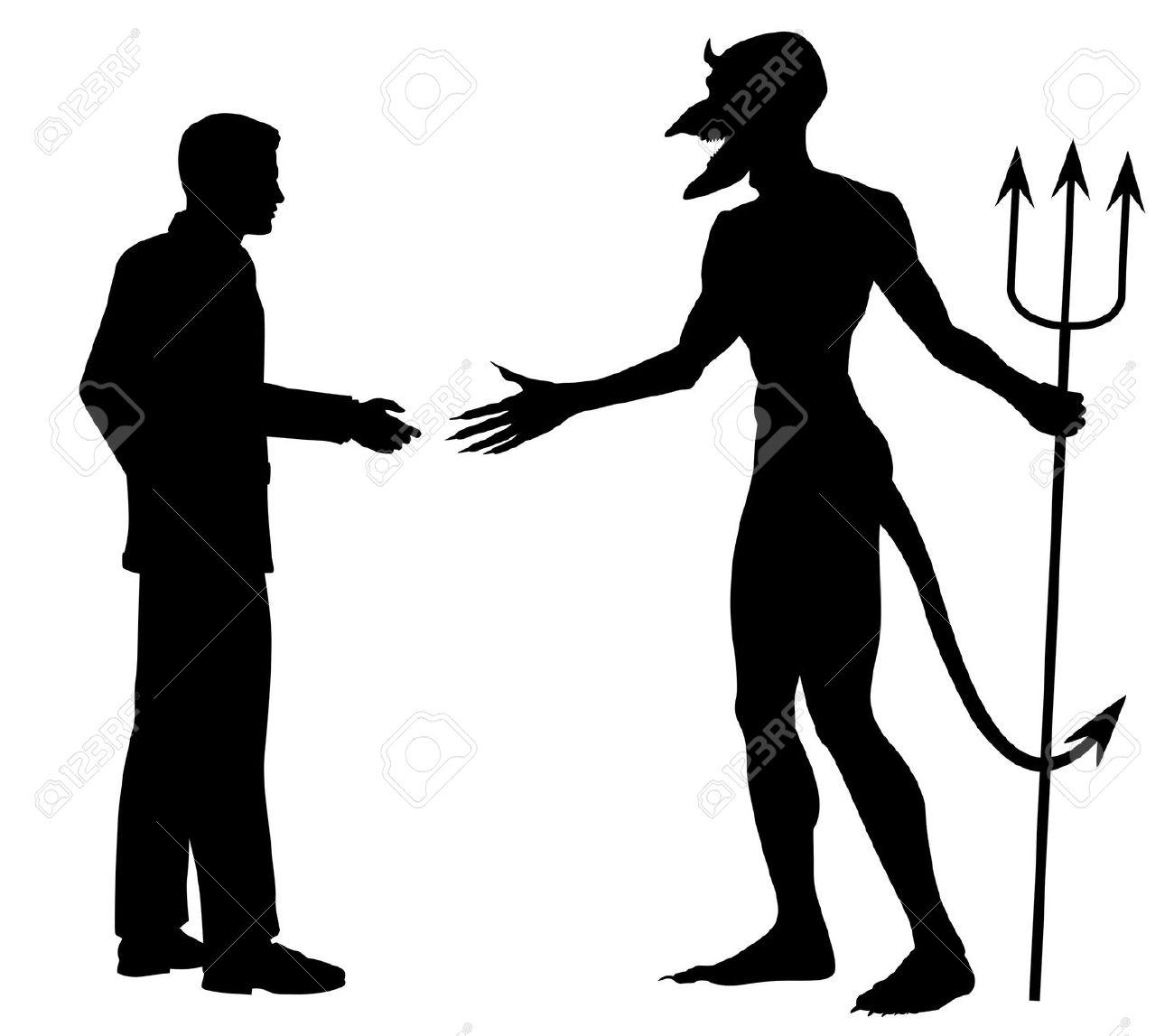 Serrer la main clipart picture freeuse stock Silhouette Vectoriel éditable D'un Homme Hésitant à Se Serrer La ... picture freeuse stock