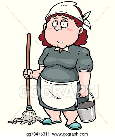Servant pictures clipart picture library download Vector Art - Maid. EPS clipart gg73475311 - GoGraph picture library download