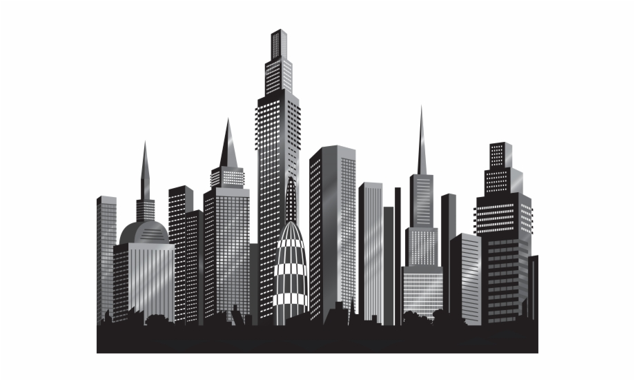 City clipart black and white transparent background black and white library Cityscape Clipart City Outline - Transparent Cityscape Free ... black and white library