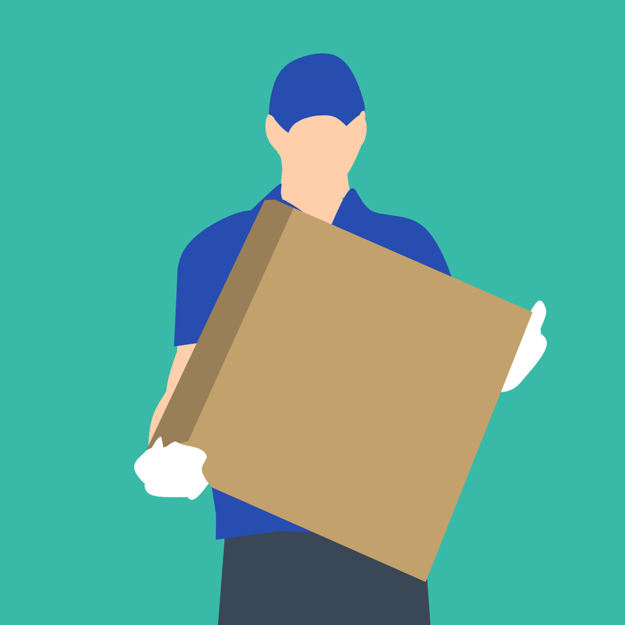 Service delivery clipart image stock Hand Cartoon clipart - Service, Delivery, Blue, transparent ... image stock