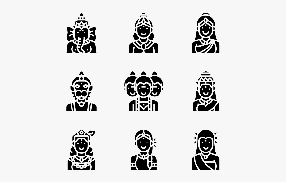 Serving the lord clipart black & white banner free Religious Vector Hindu God - Hindu God Png Images Black And ... banner free