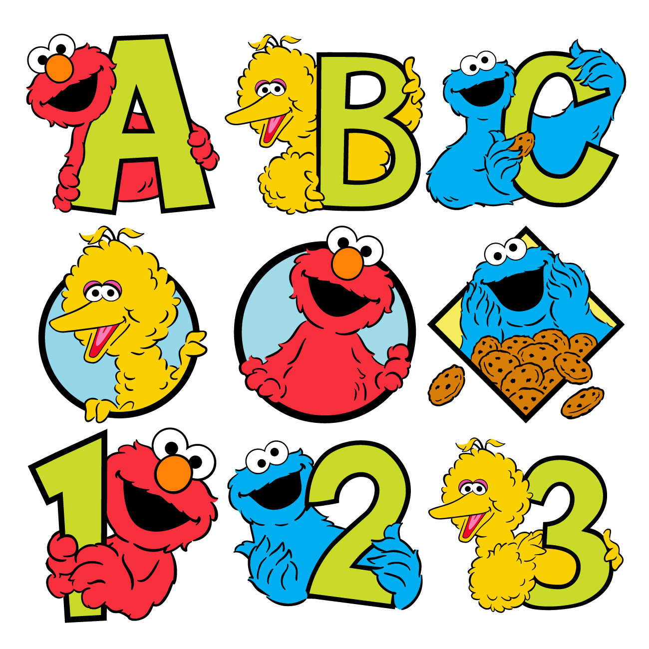 Sesame stree clipart picture black and white stock Sesame Street Clipart | Free download best Sesame Street ... picture black and white stock