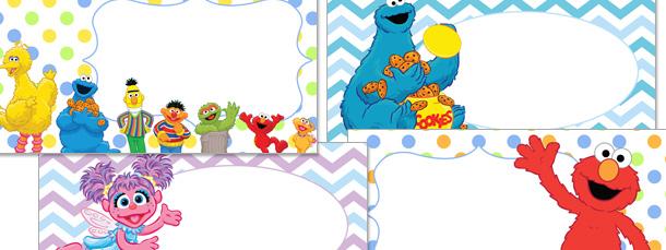 Sesame street clipart border svg royalty free download Sesame Street Labels Clipart Pack svg royalty free download