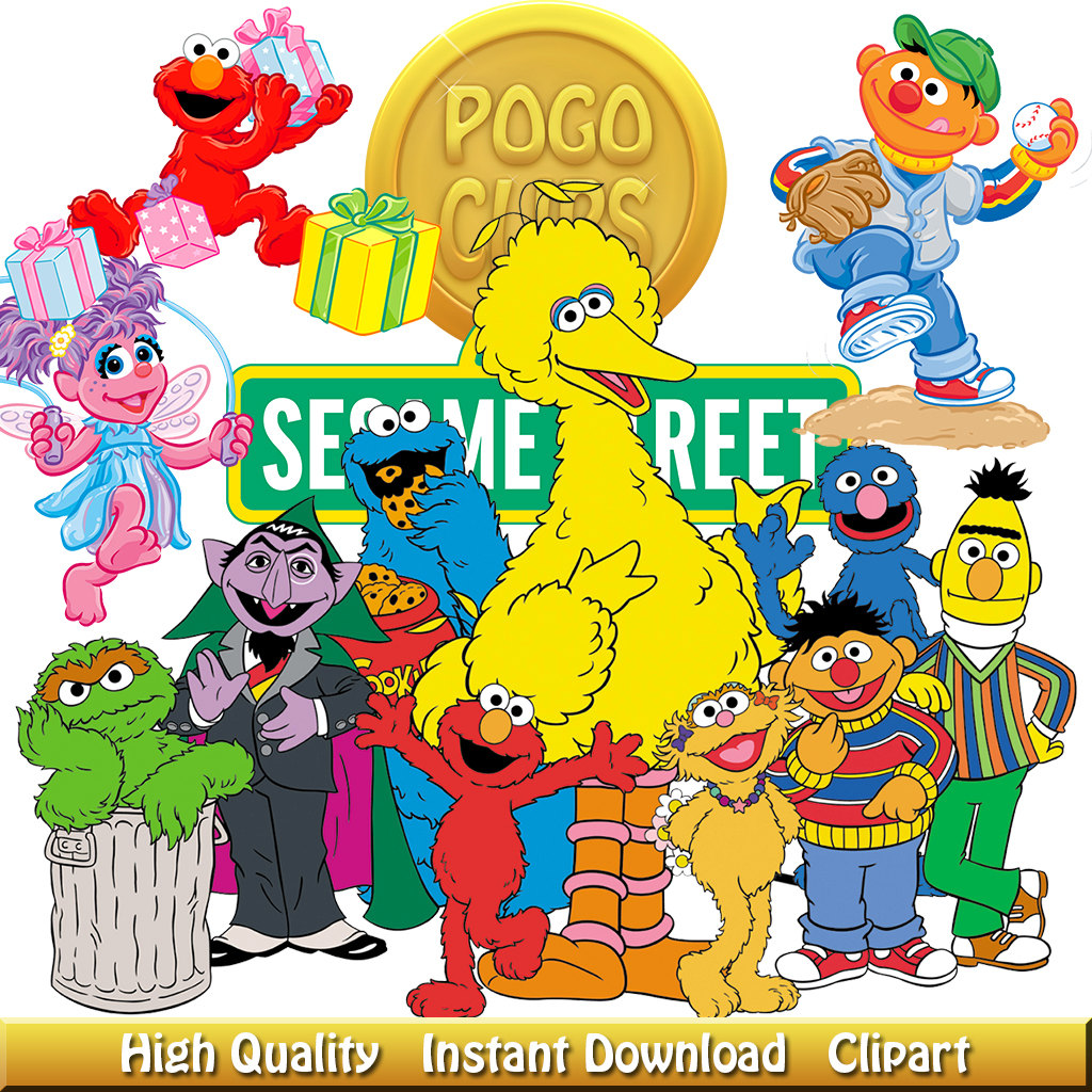 Sesame street group clipart clip free stock 9 High quality Sesame Street Characters clipart clip free stock