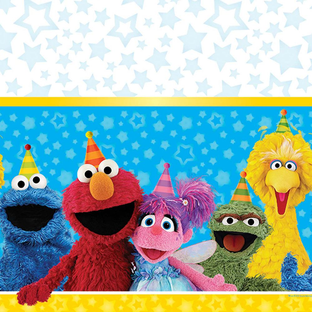Sesame street party clipart png Sesame Street Plastic Table Cover | Sesame Street Birthday ... png