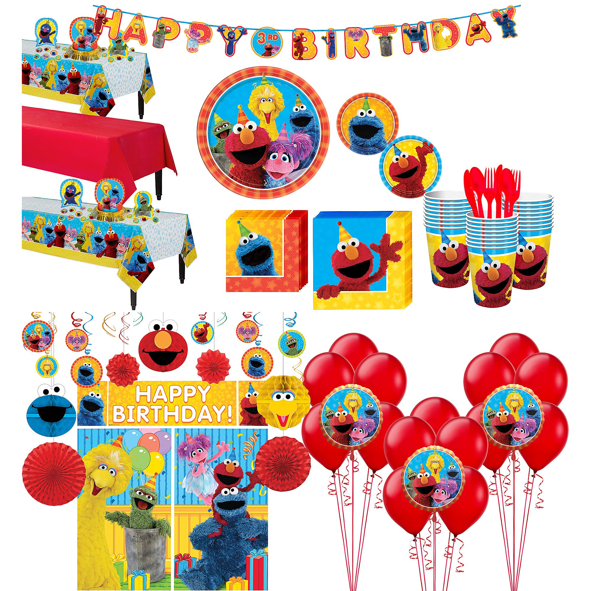 Sesame street party clipart clip stock Sesame Street Party Supplies 24 Guests Tableware Decorations ... clip stock
